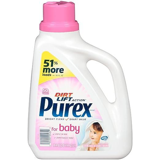 Purex Liquid Laundry Detergent, Baby, 75 oz (50 loads)