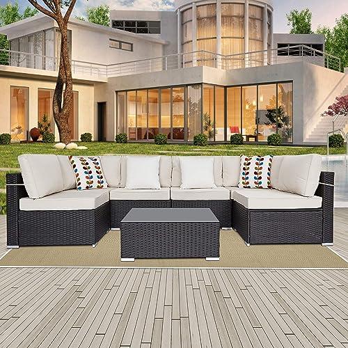 SUNVIVI OUTDOOR 7 Piece Outdoor Patio Furniture Sets
