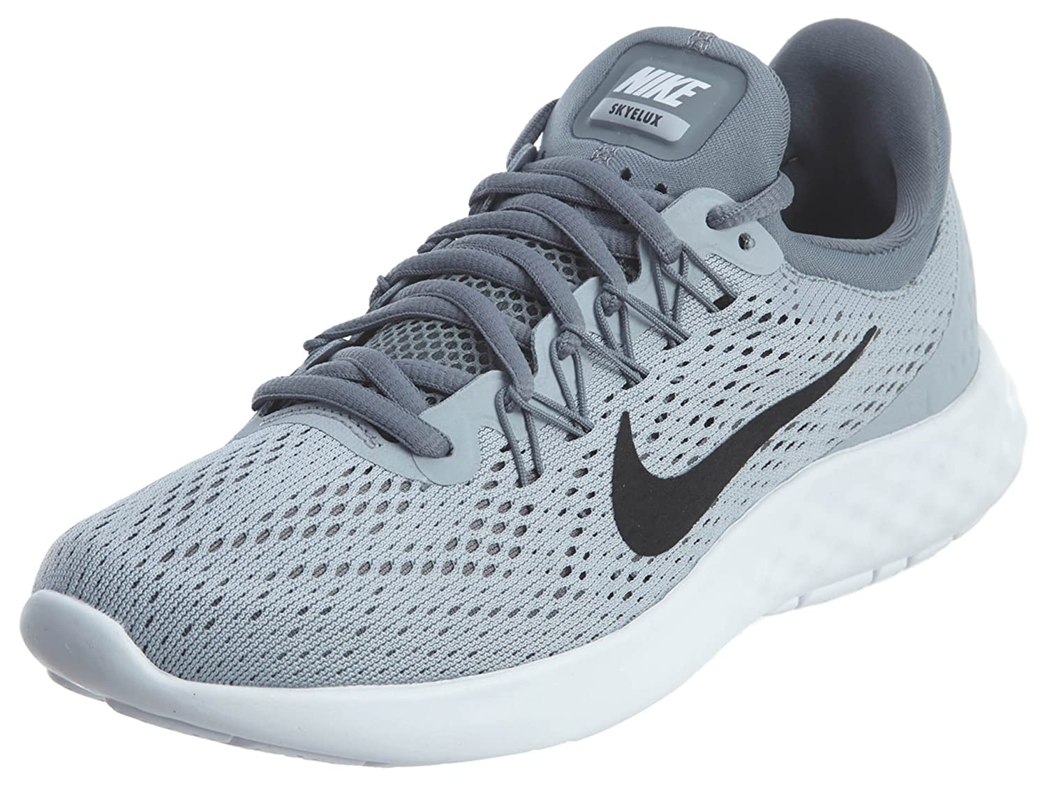 NIKE Womens Lunar Skyelux Round Toe Lace-up Running Shoes B01K2MY92U 8.5 B(M) US|Wolf Grey/Black/Cool Grey/White