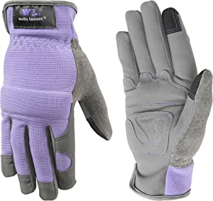 Wells Lamont 7707S Gardening Gloves, Small, Grey/Purple