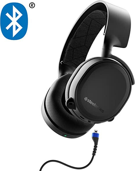 Amazon Com Steelseries Arctis 3 Bluetooth Wired Gaming Headset Plus Bluetooth For Nintendo Switch Pc Playstation 4 Xbox One Vr Android And Ios Black Computers Accessories