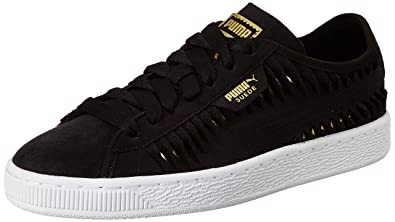 d428901375dd Puma Women s Suede Metallic Entwine Wn S Black Team Gold Sneakers-4 UK India