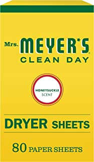 product image for Mrs. Meyer's Clean Day Dryer Sheets, Honey Suckle, 80 Count