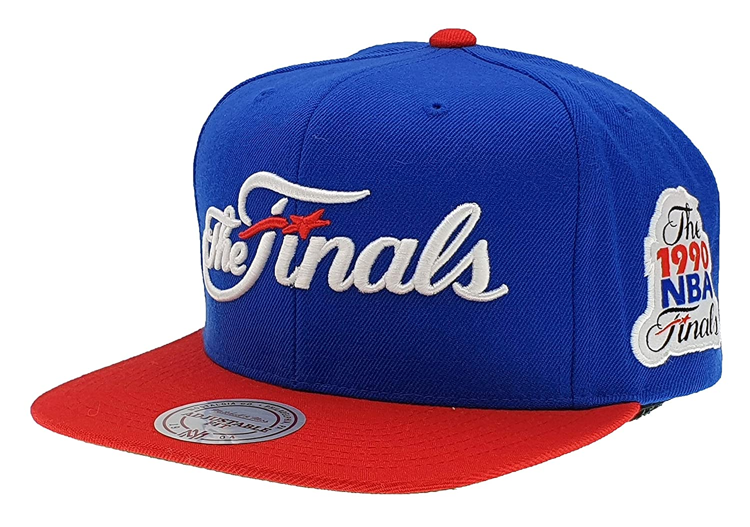 new style 6eace 15864 Mitchell   Ness Detroit Pistons Finals 1990 NBA Champs Snapback Cap   Amazon.co.uk  Sports   Outdoors