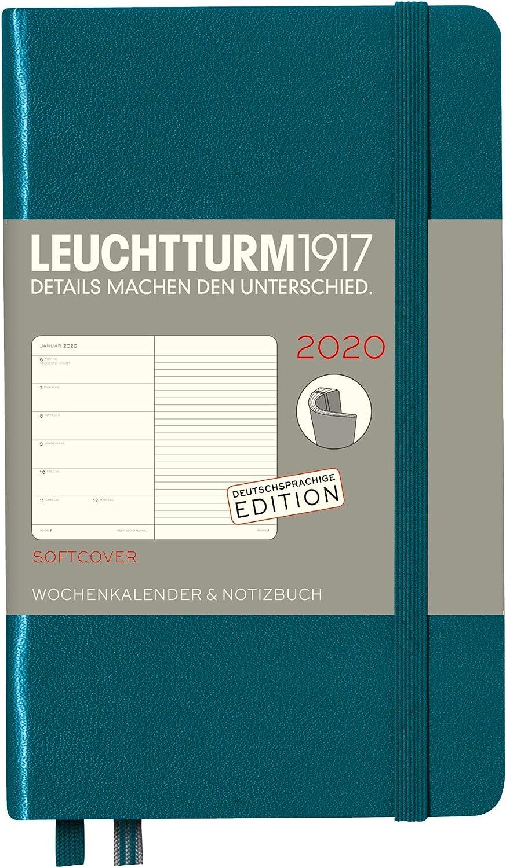 Wochenkalender /& Notizbuch 2020 Softcover Pocket Smaragd A6 12 Monate Deutsch