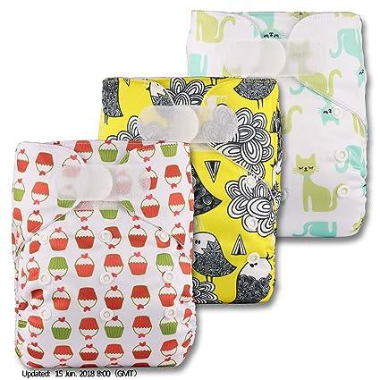 LittleBloom Bebé Pañales Lavables Pañal Reutilizable Insertos, Cierre: Hook-Loop, Set De