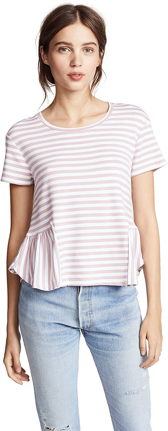 Three Dots Womens Cape Cod Stripe Loose Short Top
