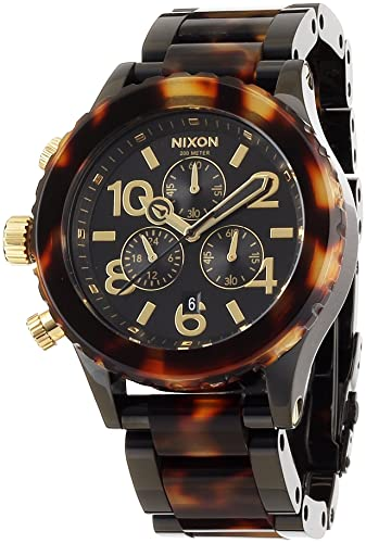 Nixon - 42 - 20 Chrono - todos los Negro/de tortuga reloj: Nixon: Amazon.es: Relojes