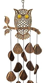 Owll Mini Wind Chime Hand Painted Metal //w Glass Yard /& Garden Decor A