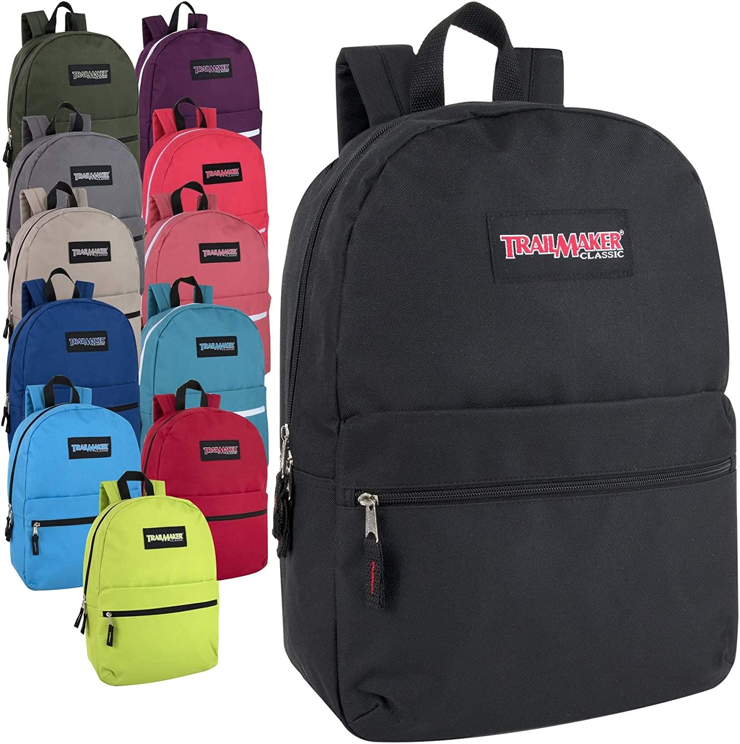 Lot of 24 Wholesale Trailmaker 17 Inch Backpack