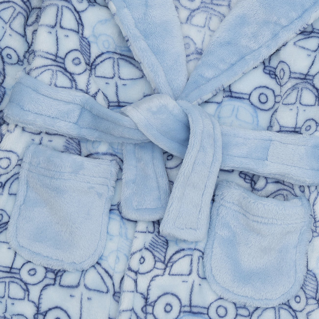 Ages 6-24 Months Flannel Fleece Hooded Night Gown Babytown Newborn Baby Boys Bathrobe