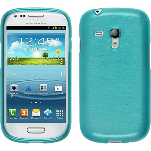 48 opinioni per PhoneNatic Custodia Samsung Galaxy S3 Mini Cover blu brushed Galaxy S3 Mini in