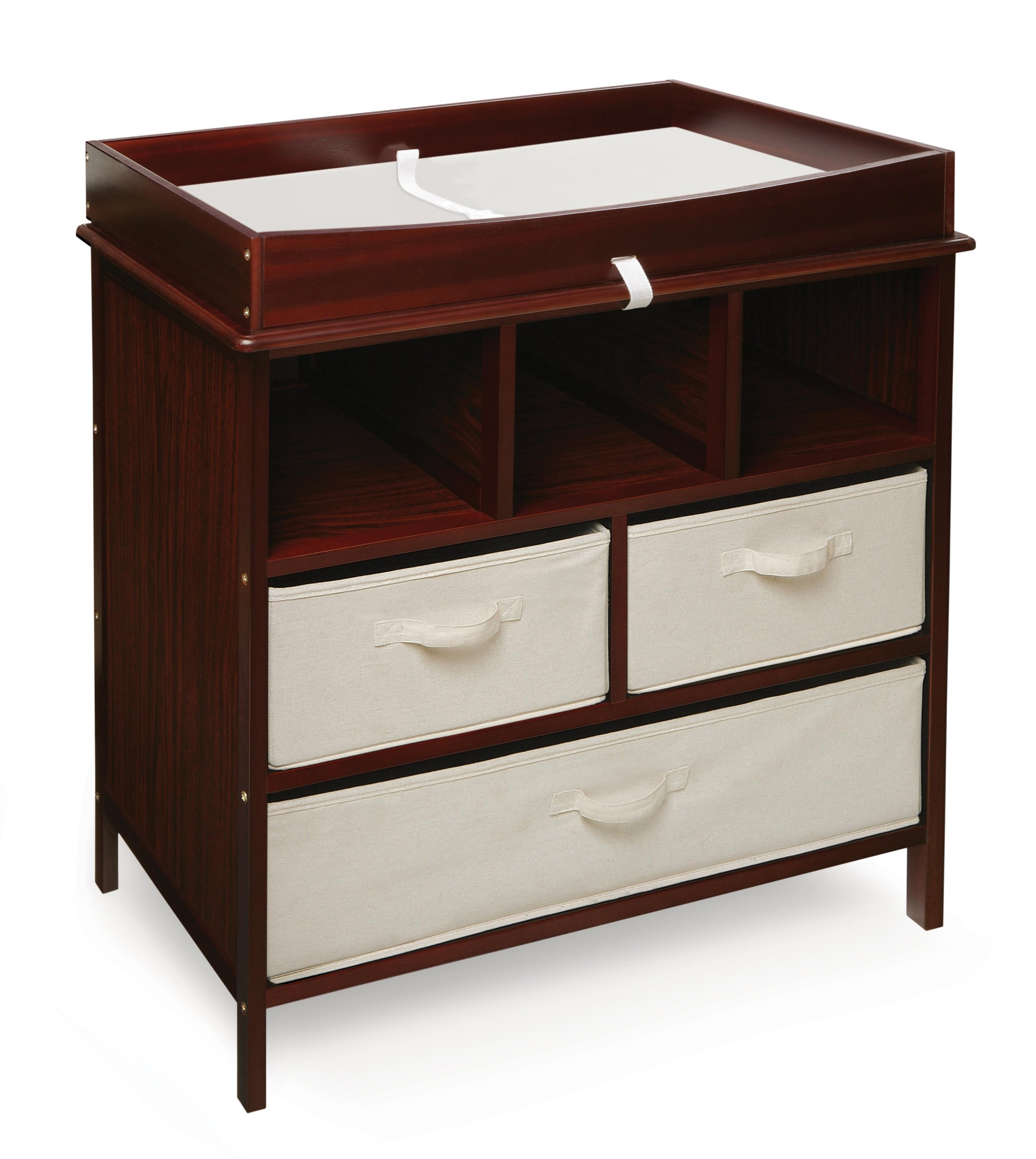 Badger Basket Company Estate Baby Changing Table, Cherry