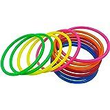 MAGICMAI 12 pcs 6 Color Plastic Multicolor Toss Rings for Carnival Garden Backyard Outdoor Games