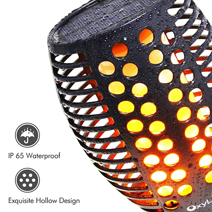 Amazon.com : OxyLED Solar Torch Lights, Garden Pathway Light with Realistic Dancing Flames, Waterproof Landscape Lighting with Auto On/Off Dusk to Dawn for ...