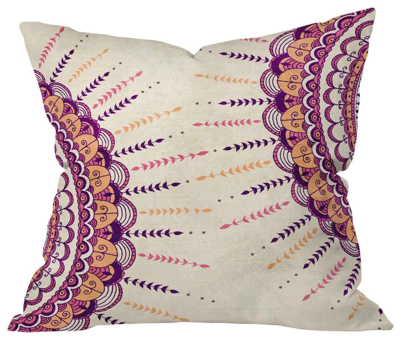 Deny Designs Rosebudstudio Peaceful Days Outdoor Throw Pillow 16 x 16