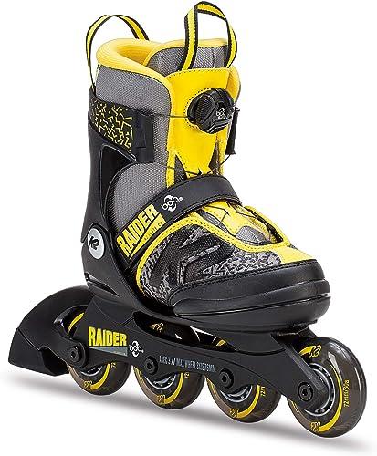 K2 Skate Raider Boa Inline Skates, Gray Yellow