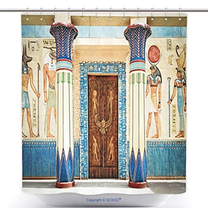 Amazon Com Vanfan Antibacterial Shower Curtains Ancient Egyptian