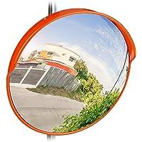 Relaxdays 10028416_47 45 cm verkeersspiegel, professioneel, weerbestendig, breekbaar, binnen en buiten, inclusief houder…