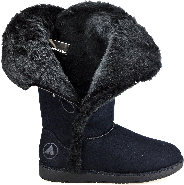Ladies Womens Flat Faux Suede Warm Fur