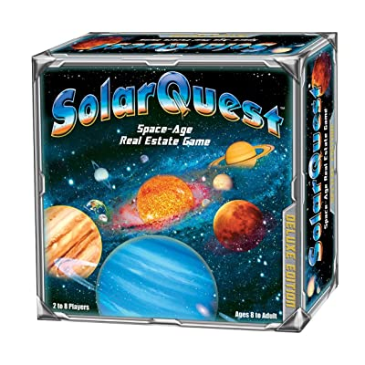 SolarQuest The Space-Age Real Estate Game: Deluxe Edition - Space Adventure - Family, Children, Teens, Adults - Educational - Competitive - Object: to Monopolize The Planets of Our Solar System: Toys & Games