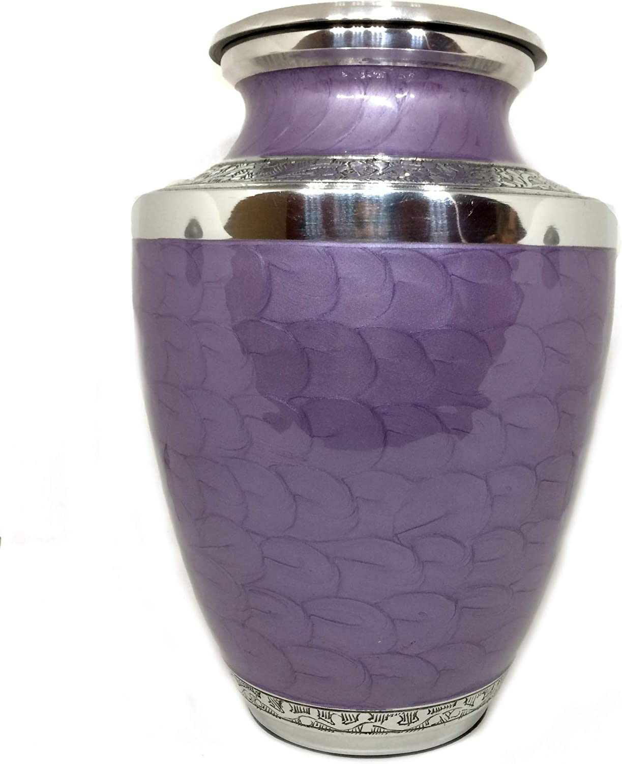 Enamel Big Urn with Premium Velvet Bag Blue Ash Urn Adult Honour Your Loved One with Beautiful Floral Urn Blue Perfect Size for Adults /& Infants Handcrafted Funeral Cremation Ashes Urn Large
