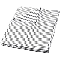 HBlife Cotton Duvet Cover for Weighted Blanket (41''x60'' Twin Size) | Removable | 16 Ties| Black Striped