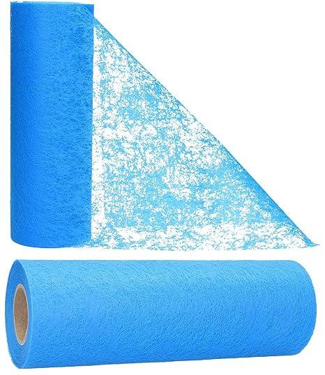 Inspirarte Deco Camino de mesa en tela no tejida Azul claro