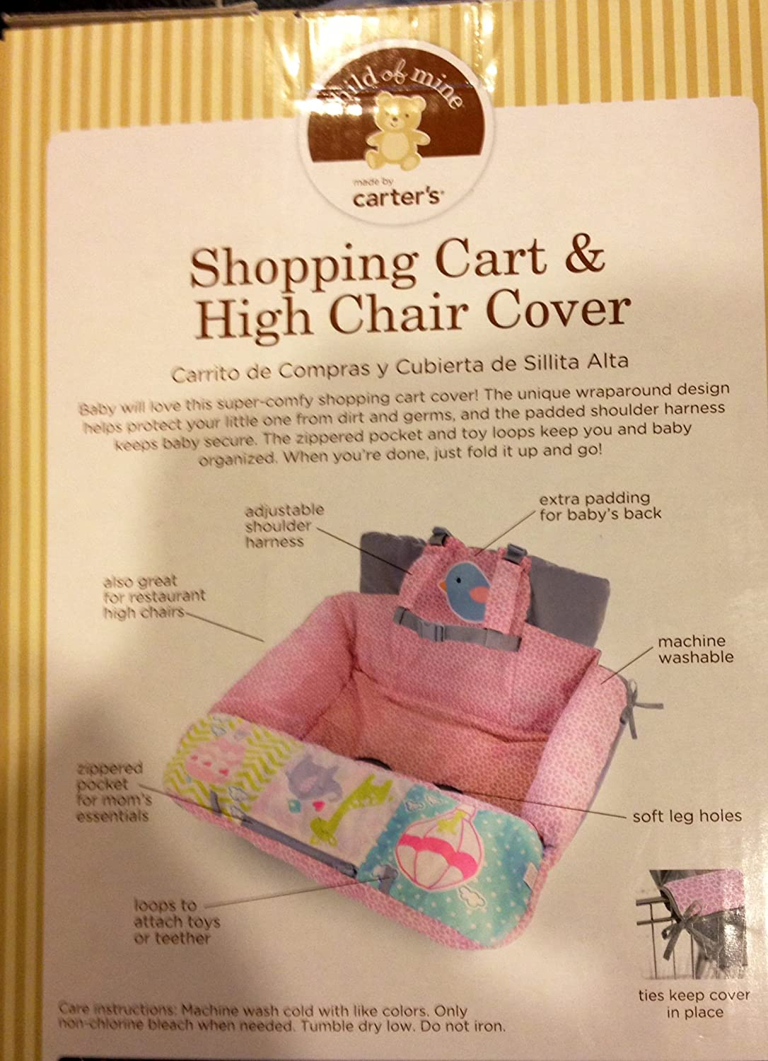 Amazon.com : Carters Child of Mine Shopping Cart and High Chair Cover : Baby