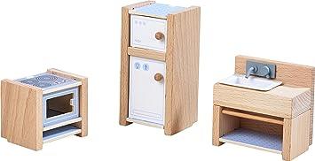 Kühlschrank Puppenhaus : Haba little friends u puppenhaus möbel küche mit herd