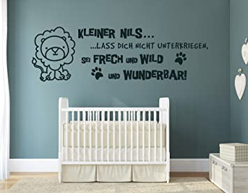 tjapalo® s-pkm150 Wandtattoo Baby Name Wandtattoo Babyzimmer jungen Name  Wandaufkleber Kinderzimmer Jungen Name Jungenzimmer lass dich nicht ...