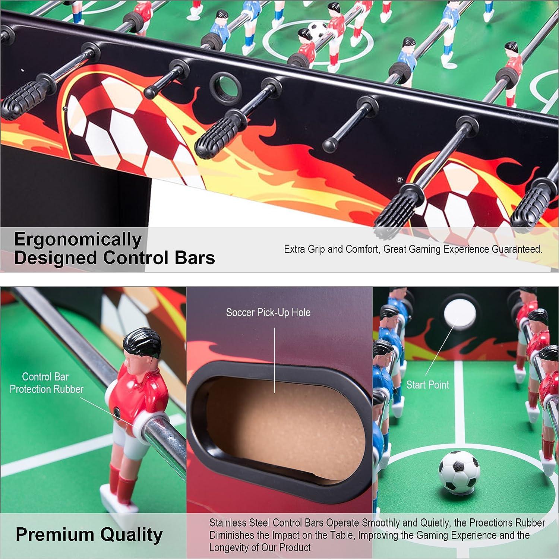 CO-Z Futbolín Mesa del Fútbol Juego de Mesa Divertido Deportes Recreativos Tabla del Fútbol Futbolín para Adultos/ Niños 122cm / 48 MDF (Amarillo): Amazon.es: Juguetes y juegos