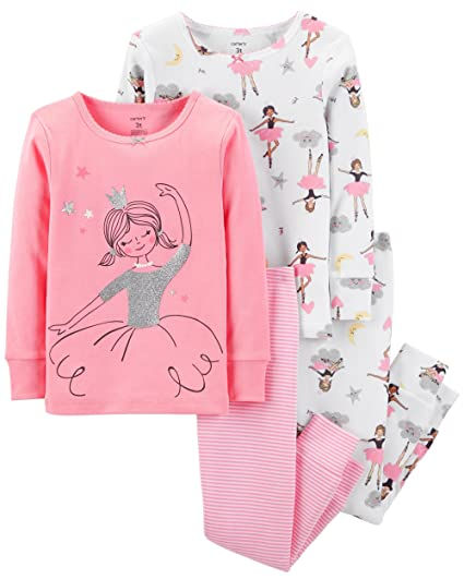 e63934819 Amazon.com  Carter s Girls Pajamas PJs 4pc Cotton Snug Ballerina ...