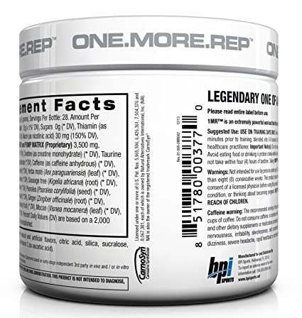 Amazon.com: BPI Sports 1.M.R Ultra Concentrated Pre-Workout Powder, Blue  Raspberry, 4.9-Ounce: Health & Personal Care