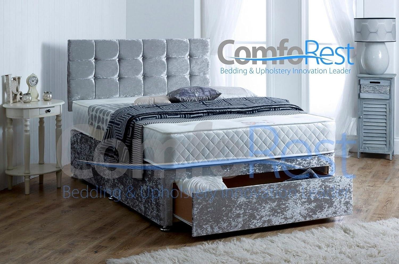 Alton Crushed Velvet Divan Bed Set - Bed Set includes Divan Base ...