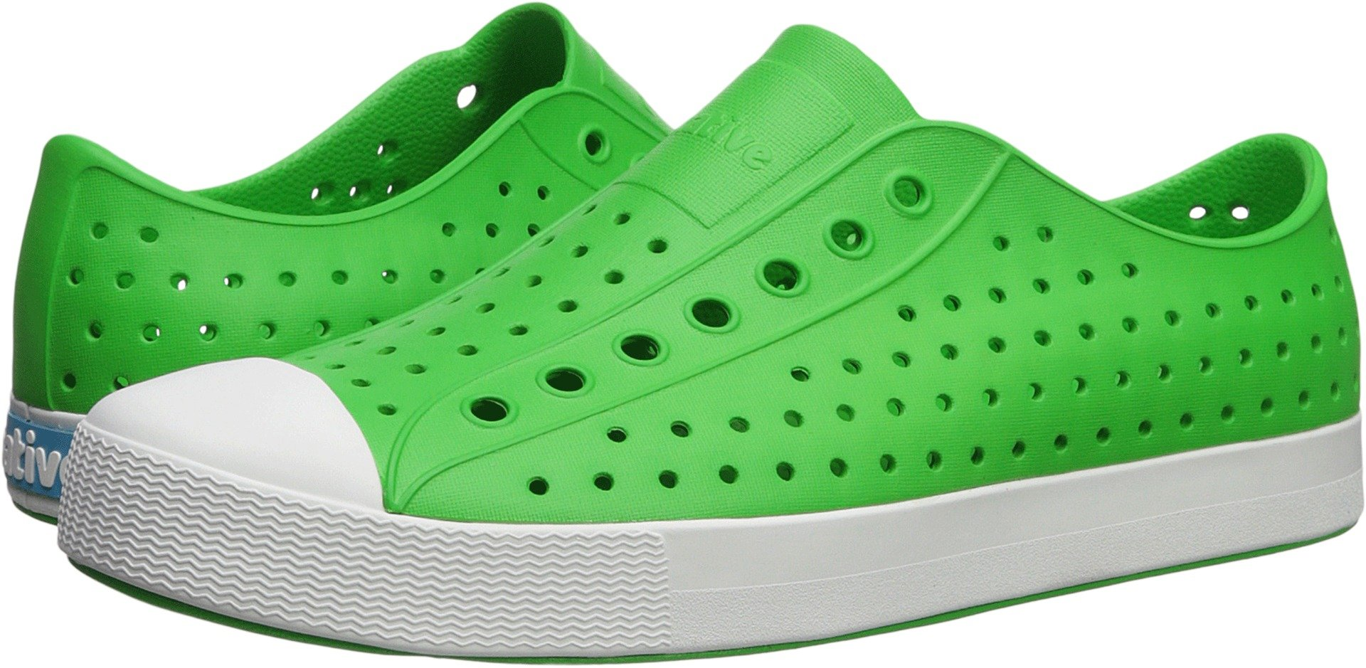 Native Shoes Jefferson Water Shoe Grasshopper Green/Shell White 9 Men's M US by Native Shoes (Image #1)