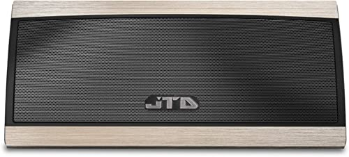 JTD Portable Wireless Bluetooth Speaker W 3D Surround Stereo Sound Full Metal Housing – Wireless, Hands-Free 8hrs Playtime 30ft Bluetooth Range 3D-Surround Gold