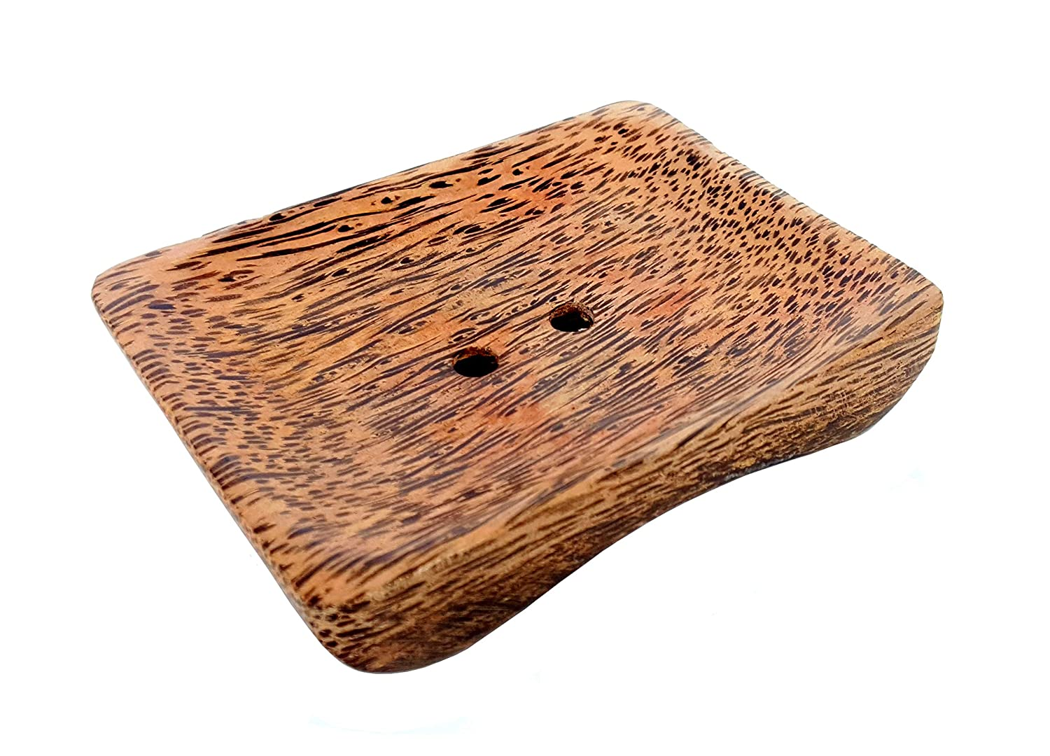 Wooden Soap Case Holder Made of Palm Wood. eSplanade Wooden Soap Dish