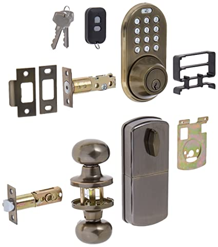 milocks xfk-02aq Digital cerrojo y cerradura para puerta paso pomo Combo con a través