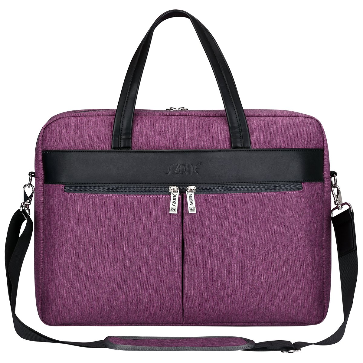 S-ZONE Fashion Women 15.6 inch Laptop Messenger Bag Business Work Tote Bag