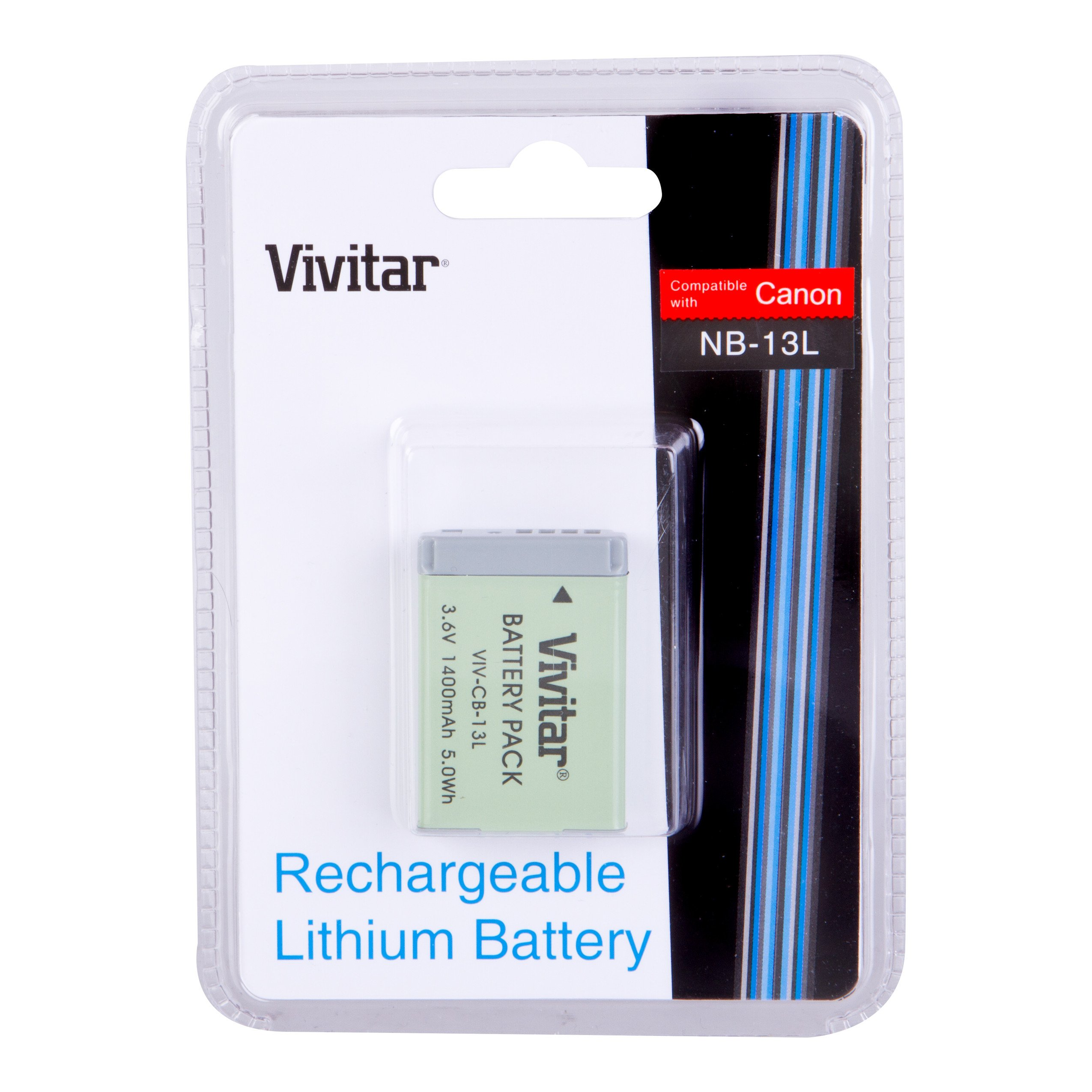 Vivitar VIV-CB-13L Li-On Battery for Canon NB-13L 1400Mah (White) by Vivitar