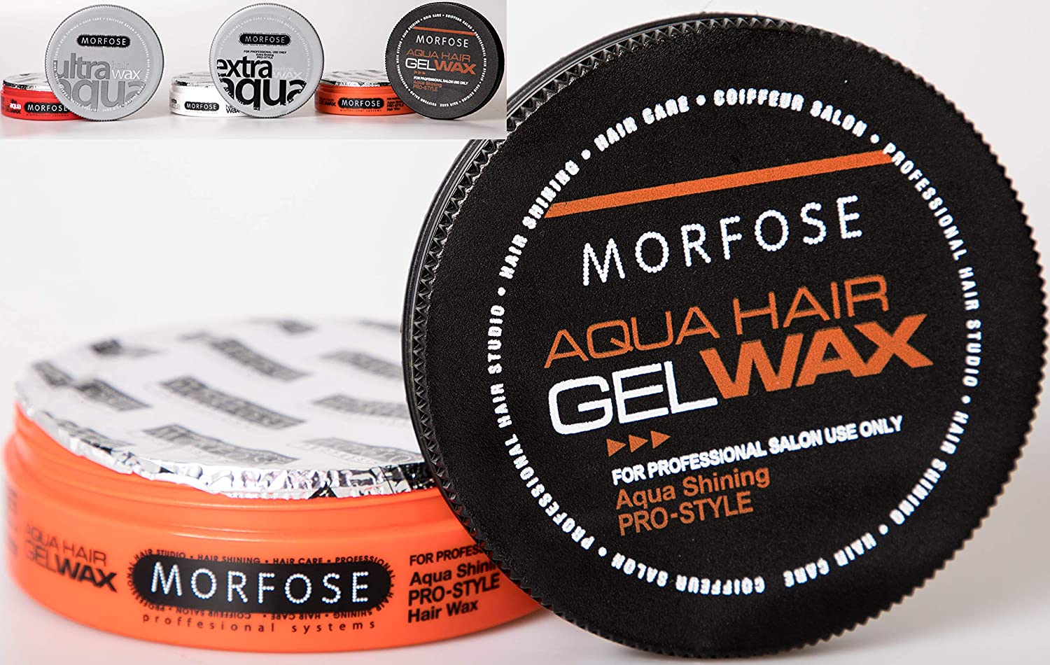 MORFOSE Aqua Hair Wax - 175 ml. Professional Hair Care For An Incredible Shine And Strong Hold by MORFOSE