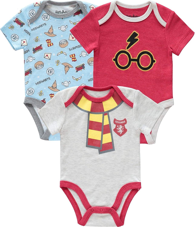 Harry Potter Newborn Baby Boys Onesie Bodysuit Pack of 3