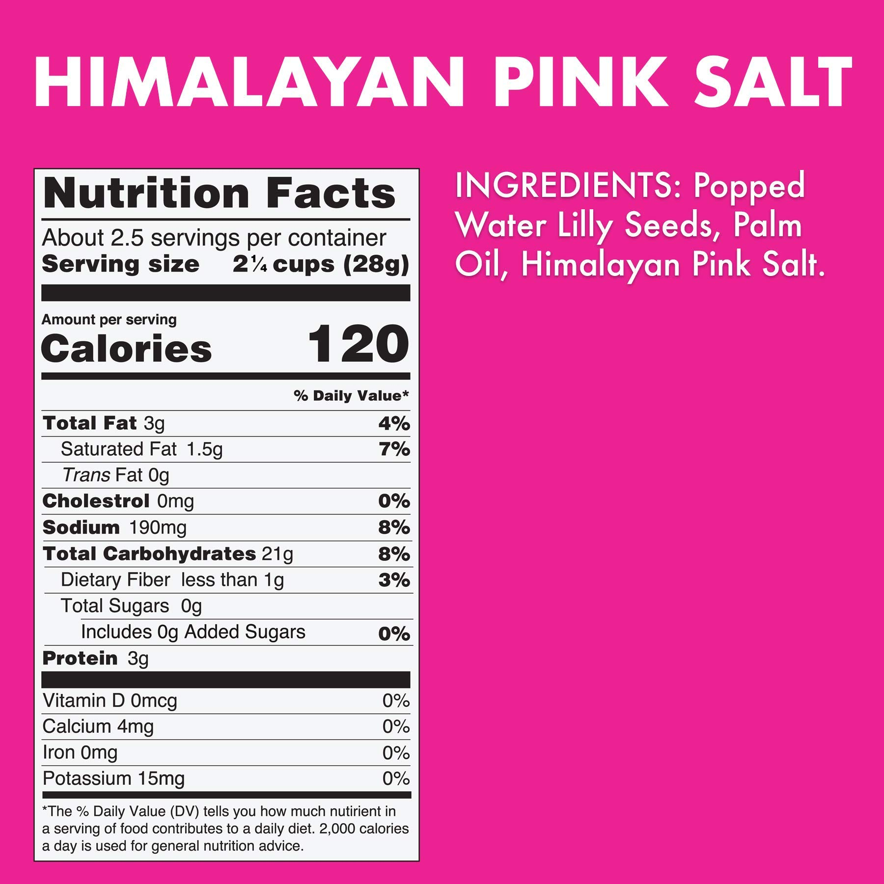 Taali Himalayan Pink Salt Water Lily Pops (4-Pack) - Classic Flavor from the Mountains | Protein-Rich Roasted Snack | Non GMO Verified | 2.3 oz Multi-Serve Bags by Taali (Image #7)