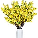 Artflower Artificial Orchids Flowers, 4 Pcs Silk Fake Orchids Flowers Orquideas Flowers Real Touch Flower Bouquets for Indoor