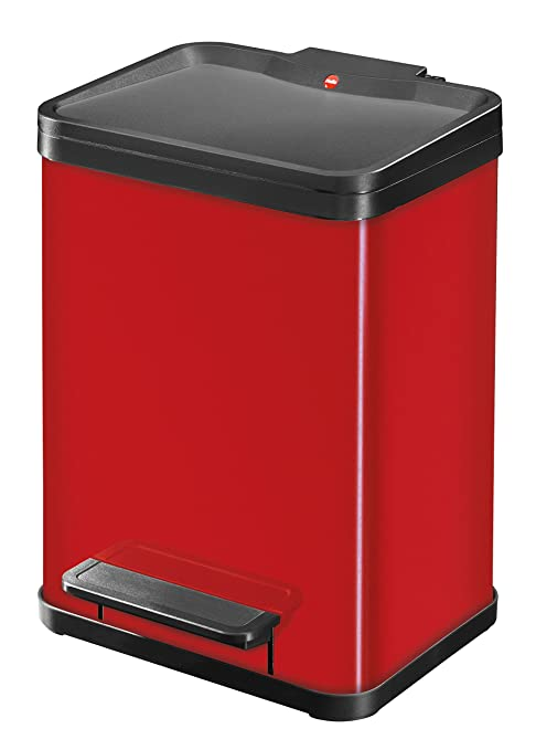 166 opinioni per Hailo Trento 22L Rectangular Red trash can- trash cans (22 L, Rectangular, Red,