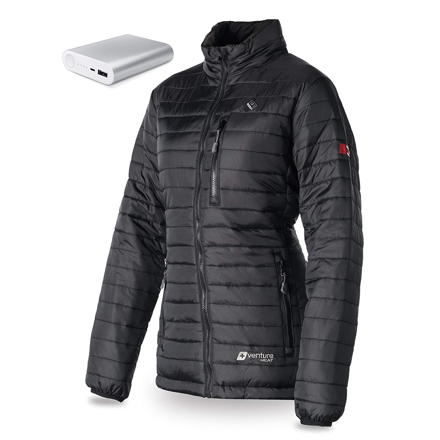 Battery Heated Clothing >> Amazon Com Venture Heat Women S Heated Jacket With Battery 12 Hour