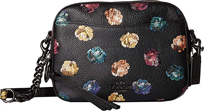 fe58f94e30 Amazon.com: COACH Women's Camera Bag in Floral Printed Leather Dk ...
