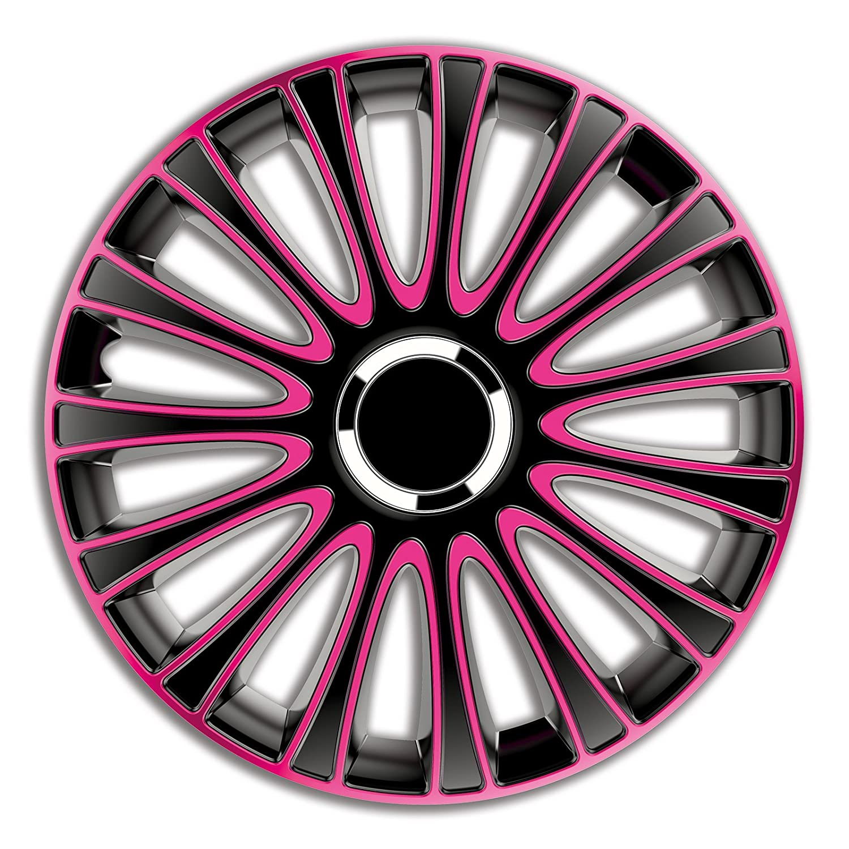 4pc Enjoliveurs de roues LmPro Rose & Noir 14 pouces PKWelt