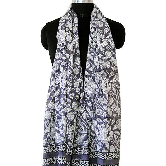 708ccd9dc0f05 Image Unavailable. Image not available for. Color: Indian Block Print  Cotton Scarves Bikini Cover ups Neck Wraps Beach Sarong ...